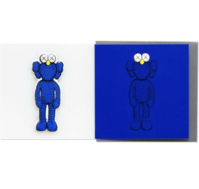 KAWS, 'KAWS x NGV BFF Greeting Card with Puffy Sticker (Blue)', 2019