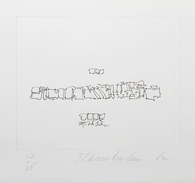 John Chamberlain, 'III from the Ten Coconut Portfolio', 1982