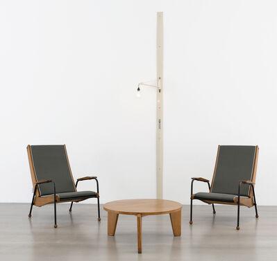 Jean Prouvé, 'Pair of  Visiteur Métropole FV 12 armchairs', ca. 1950