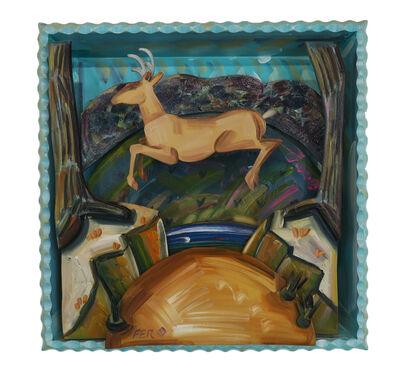 Frank Romero, 'Deer Crossing', 1988