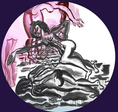 Mira Dancy, 'Pink Swim Moon', 2016