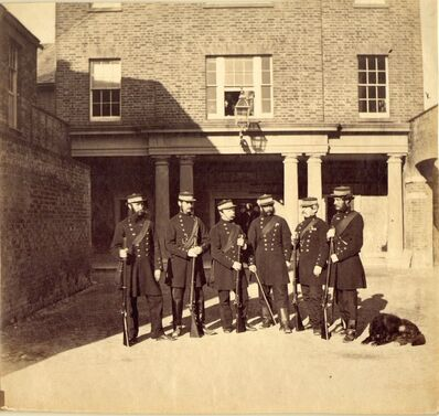 Roger Fenton, 'Soldiers at Barracks (Woolwich?)', ca. 1856