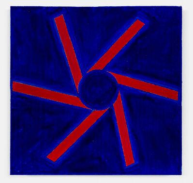 Paul Mogensen, 'no title (Cadmium red and ultramarine blue)', 2018