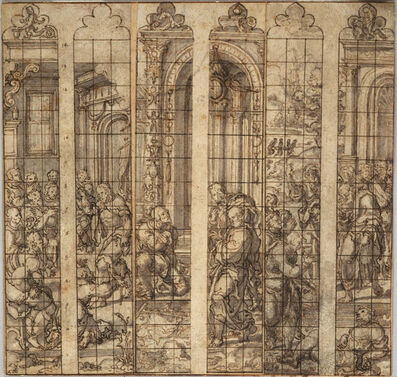 Dirk Jacobsz Vellert, 'Three Designs for Stained Glass Windows', ca. 1538
