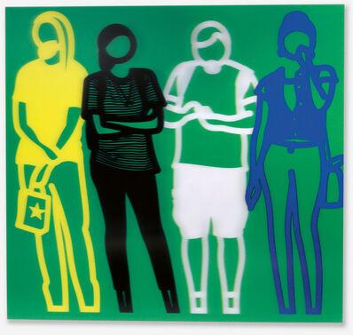 Julian Opie, 'Yellow Black White Blue (Standing People)', 2019
