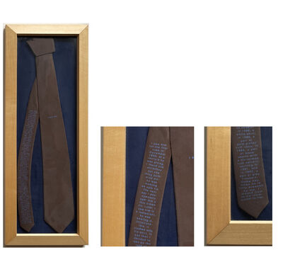 """Sophie Calle, '""""The Tie"""", Edition for Parkett, Pure Silk, SIGNED/Numbered Edition 111/150. ', 1993"""