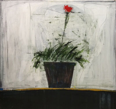 SALAH ALKARA, 'Small flower black pot', 2012