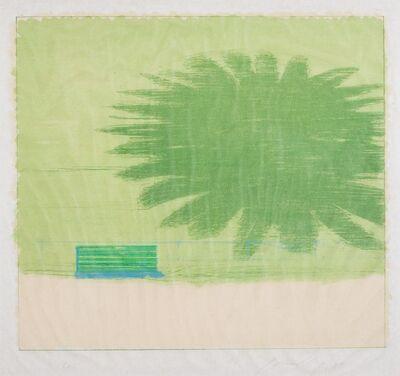 Piero Guccione, 'Bench and palm', 1973