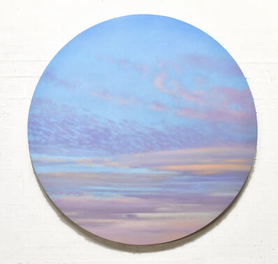Willard Dixon, 'Luminous Sky - circular sky oil painting', 2020