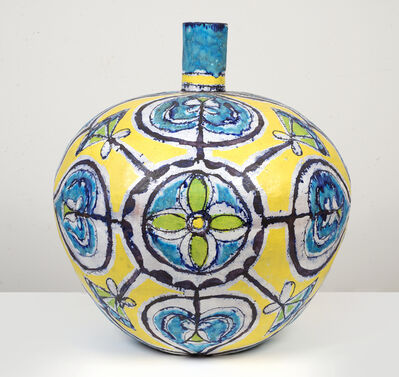 Elisabeth Kley, 'Large Round Turquoise & Yellow Bottle', 2013