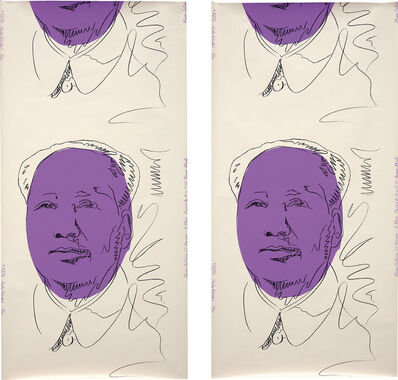 Andy Warhol, 'Mao (wallpaper): two panels', 1974