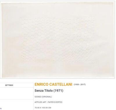 Enrico Castellani, 'Senza titolo', 1971