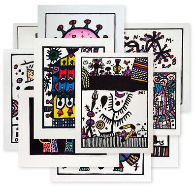 Alan Davie, 'Woodcut Improvisations set of 10', 2005