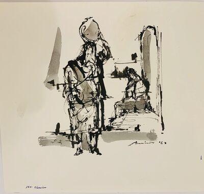 Walter Quirt, 'Untitled (Yucatan Village, First Version)', 1963