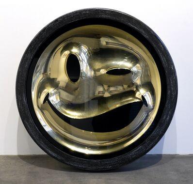 Ryan Callanan (RYCA), 'Wink Gold Smiley Face (Emoji series)', 2013