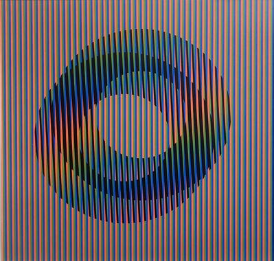 Carlos Cruz-Diez, 'Induction Chromatique à Double Fréquence Adrianita C', 2010