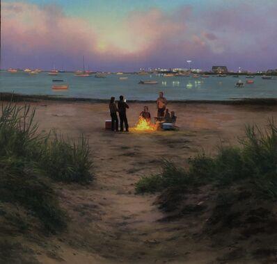 Scott Prior, 'Bonfire at Twilight, Provincetown', 2021