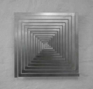 Martin Willing, 'Bewegtes Quadrat, vertikal, vierfach, spiralig, Breiten wachsend', 2018