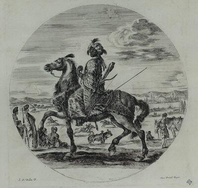 Stefano Della Bella, 'Un cavalier nègre', 1648