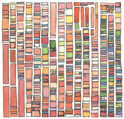 Laurie Frick, 'Portrait Test Pattern Skincolor', 2014