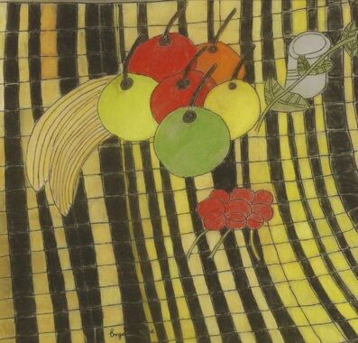 Bryan Pearce, 'FRUIT ON A YELLOW AND BLACK CLOTH', 1998