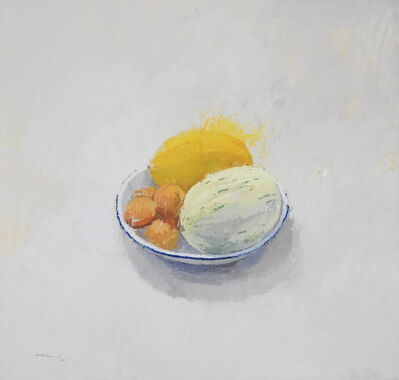 Alberto Romero, 'Still life with melon and apricot', 2019