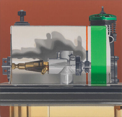 Harold Reddicliffe, 'Carburetor, Striped Box and Two Engines', 2012
