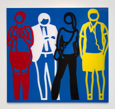 Julian Opie, 'Red White Black Yellow (from Standing People)', 2020