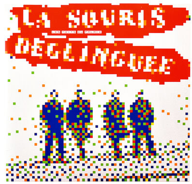 Invader, 'LA SOURIS DEGLINGUEE (Vinyl Record)', 2014
