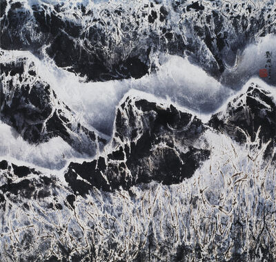 Liu Kuo-sung 刘国松, 'Snow on the Branch 雪染枝頭', 2003