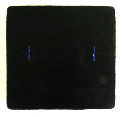 Otis Jones, 'Black with Two Blue Lines', 2009