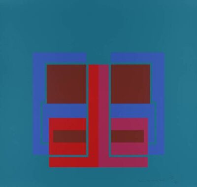 Robyn Denny, 'All Through the Day IV (turquoise)', 1970