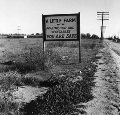 Dorothea Lange, 'Real Estate Sign, Riverside County, California', 1937