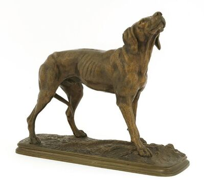 After Ferdinand Pautrot, 'A hound with a raised head'