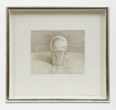 Wayne Thiebaud, 'Untitled (Ice Cream Cone)', 2013