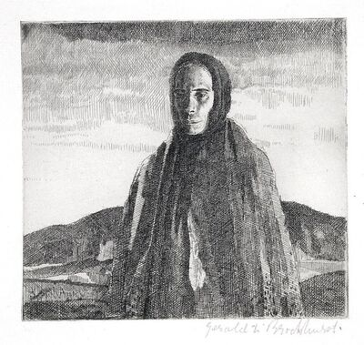 Gerald Leslie Brockhurst, 'A Galway Peasant (or, an Irish Peasant)', 1920