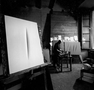Ugo Mulas, 'Lucio Fontana, Milano (2)', 1964