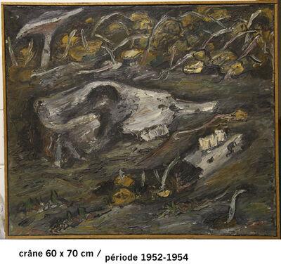 Jürg Kreienbühl, 'Crâne et champignons', 1952