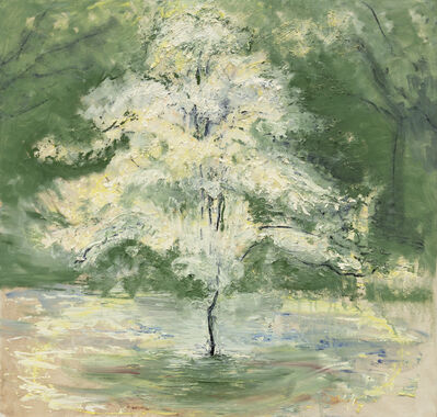 Celia Paul, 'Hawthorn Blossom Tree', 2019