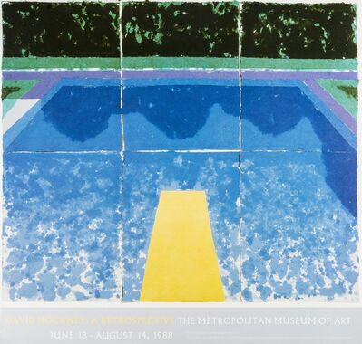After David Hockney, 'A poster for David Hockney: A Retrospective', 1988