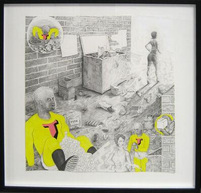 Trenton Doyle Hancock, 'Studio Floor, Encounter with Prostitute #1', 2002