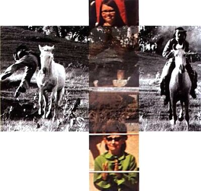 John Baldessari, 'Person On Horse And Person Falling From Horse, (With Audience), from Intersection Series', 2002