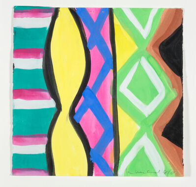 Kim MacConnel, 'Woman with Mirror. (Canvas #18)', 2007