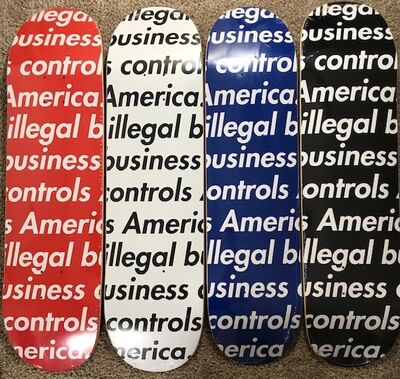 "Supreme, '""Illegal Business Controls America Volume 1""', 2018"