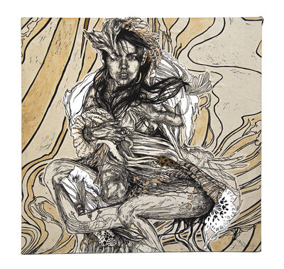 Swoon, 'Monica', 2018