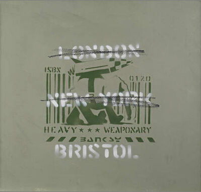Banksy, 'Heavy Weaponry (London, New York, Bristol) Painting', 2000