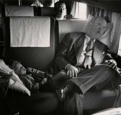 Esther Bubley, 'untitled (man and child sleeping on bus)', 1952