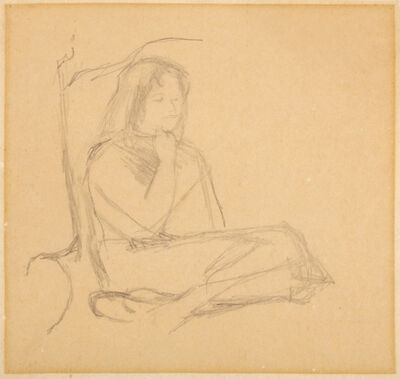 Michael Andrews, 'Study of a girl', Executed in 1957.