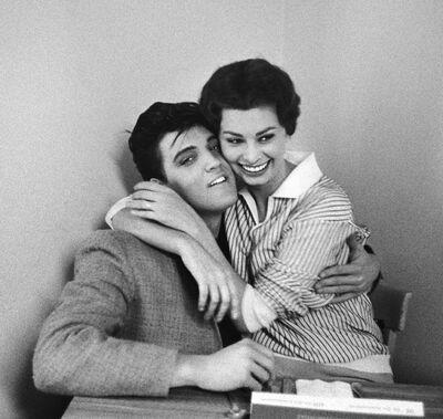 Bob Willoughby, 'ELVIS PRESLEY AND SOPHIA LOREN', 1958