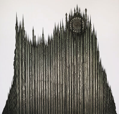 Erol Eskici, 'Geomorphologic Cathedral 3 (Landform buildings)', 2018